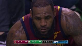 LeBron James gets hit in the head, leaves game with neck strain