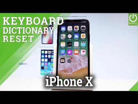 APPLE iPhone X RESET KEYBOARD DICTIONARY