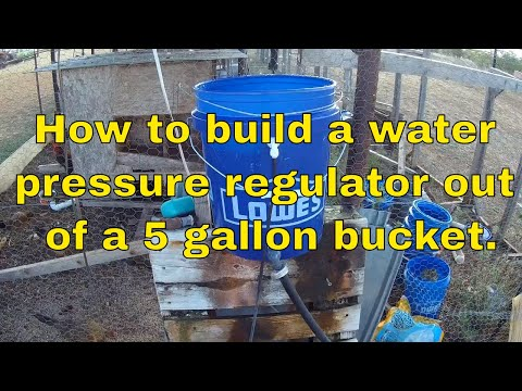 🤠   DIY: How to make a low pressure valve out of a bucket. Simple and cheap.