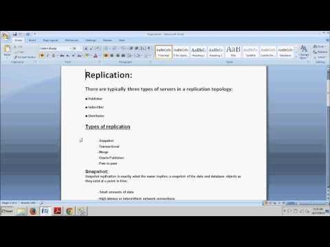 SQL Server tutorial 71: Configuring Replication / Types of Replication /