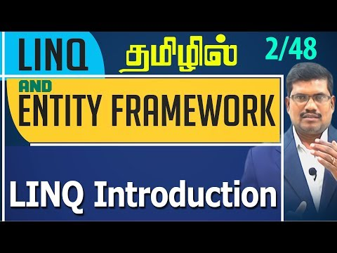 #2 LINQ Introduction || LINQ and Entity framework in Tamil