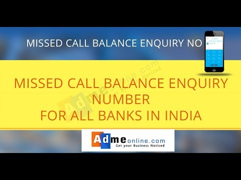 All bank Balance Enquiry Number | Bank balance check number