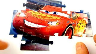 Disney Pixar Cars 3 Lightning McQueen #95 Racing Puzzle - FUN Easy Learning Games Toy Video For Kids