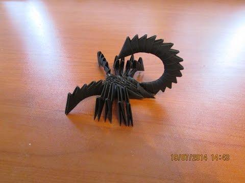 3D Origami Scorpion Tutorial