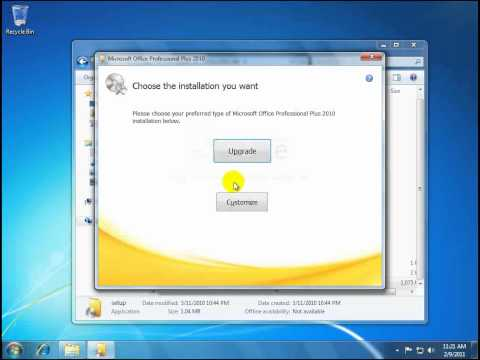 Install Office 2010 with 2007 already installed