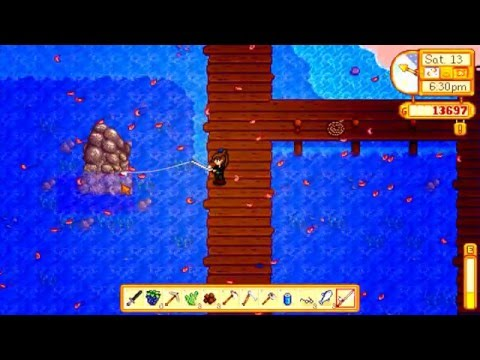 stardew valley fall ep33 willy's salmon