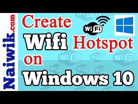 How to Create WIFI Hotspot on Windows 10 laptop   Mobile hotspot