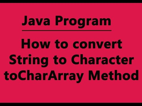 How to convert String To Char in Java Program (Hindi)