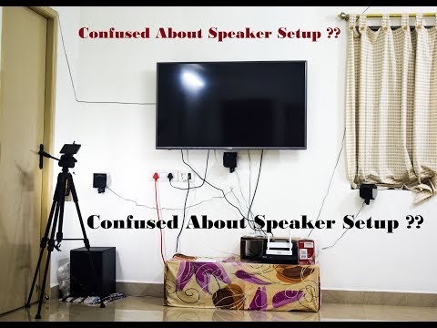 How to Set up a 5.1 Home Theater Speaker System || Sony HT-IV300 Home theater Setup