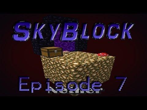 Minecraft- SkyBlock [7] Nether Portal!