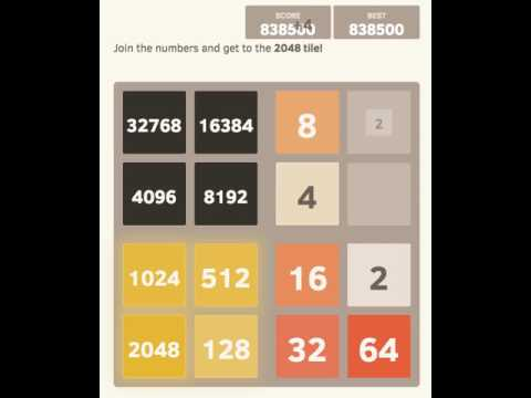 2048-4D  Getting close to the 65,536 tile!
