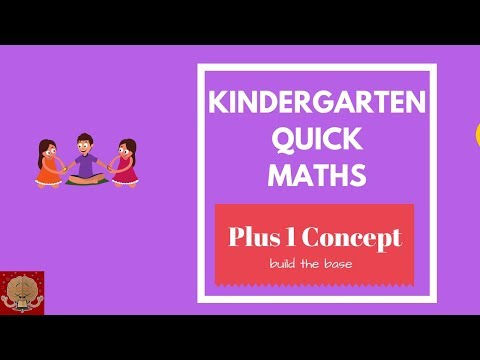 Kindergarten quick maths for kids - Plus One concept  Fast Maths tricks for kids  Maths for kids