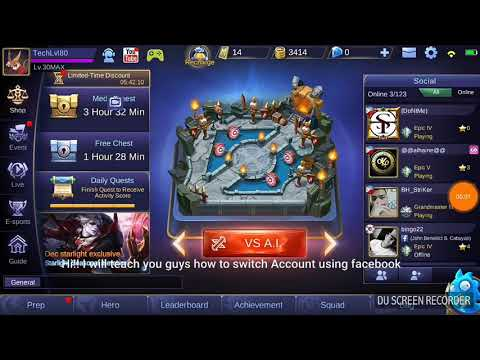 How to Switch Account in Mobile Legends using Facebook!!