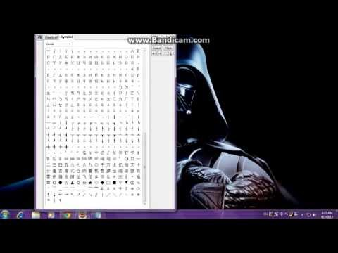 How To Make Some Symbols At Windows 7