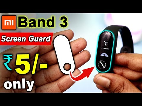 Mi Band 3 Screen Protector @5/- 🔥🔥 How to make Mi Band 3 Screen Protector & How to Apply