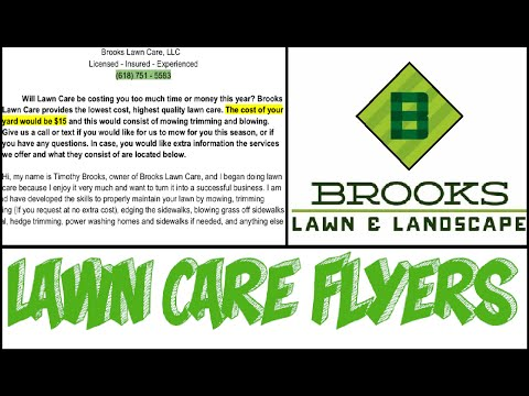 Make Perfect Lawn Care Flyers!