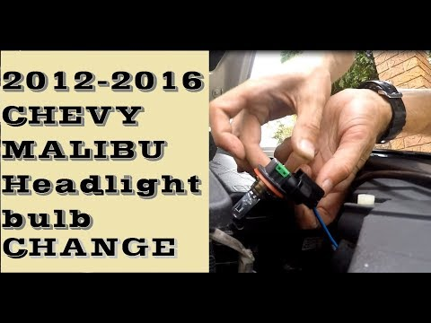 How to change, replace Headlight Bulb in 2012–2016 Chevrolet Malibu