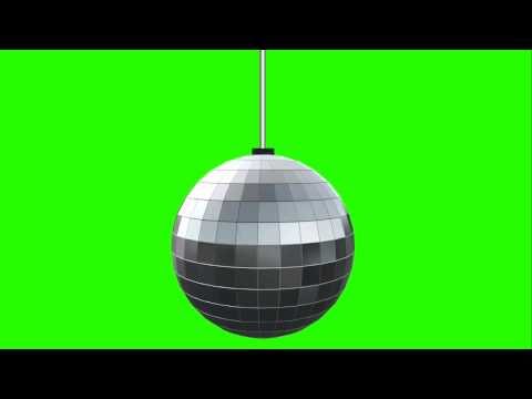 Disco Ball Video Background Green Screen Footage