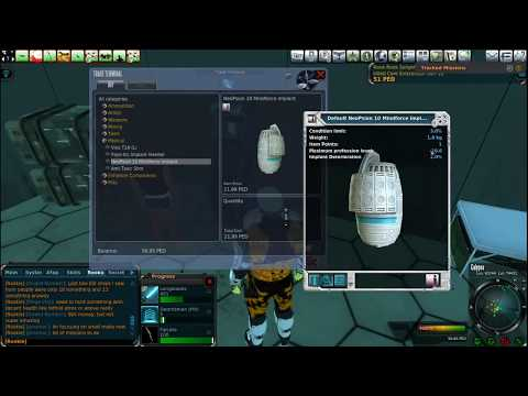 Entropia Universe Inserting Implant and skills
