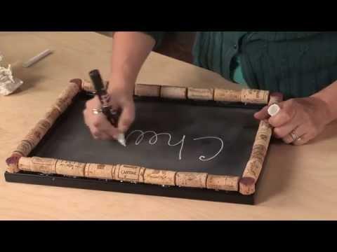 DIY Wine Cork Crafts Chalkboard and Cork Board