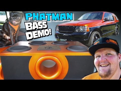PHATMAN BASS System w/ Clean Ported Subwoofer Box Build & 4 12