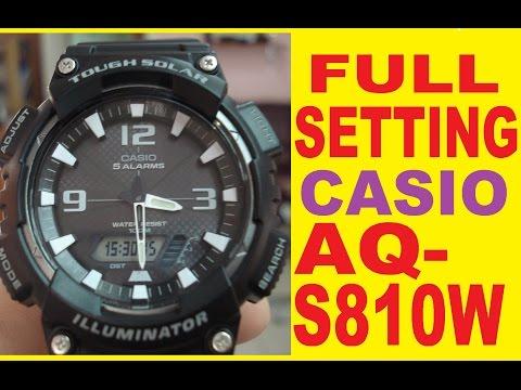 Setting AQ-S810W Digital time