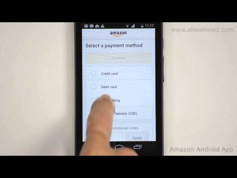 Amazon Android App - How To Buy Using Online Banking