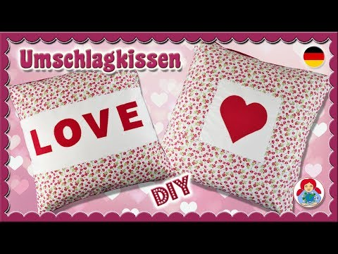DIY | Umschlagkissen im Valentinstag Design • Sami Dolls Tutorials