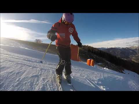 Skiing exercise, how to use knees more, edging, sliding for intermediate skier