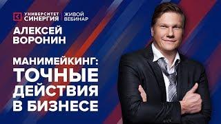 Манимейкинг: точные действия в бизнесе   Вебинар с Алексеем Ворониным   Университет СИНЕРГИЯ   2017