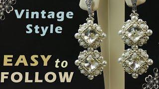 """Handmade earrings - """"vintage style""""  beading tutorial"""