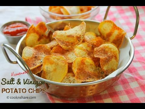 Homemade Salt and Vinegar Potato Chips