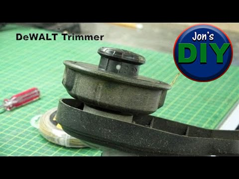 How to replace Dual String Trimmer line for DeWALT trimmers
