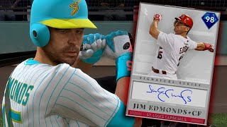 98 Jim Edmonds Debut! POTM Nick Castellanos Hits HR! MLB The Show 19 Ranked Seasons Diamond Dynasty