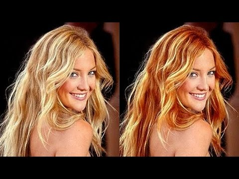 how to change the eye and hair color of your picture