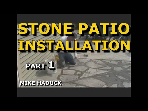 How I install a stone patio, with cement (Part 1 of 4) Mike Haduck, Pennsylvania