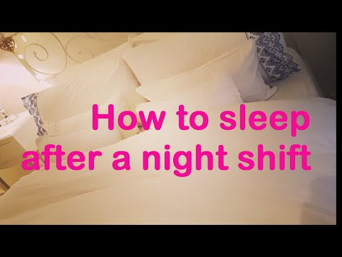 How to sleep after a night shift