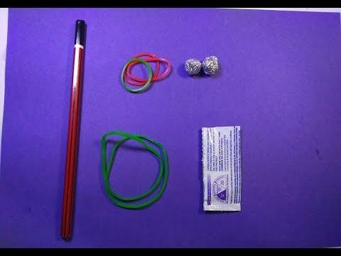 ::: How To Make || DIY || Rubber band || Slingshot :::