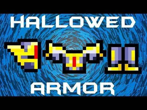 Terraria episode1 how to make the hallowed armour/melee