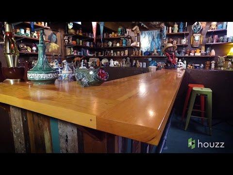 A Fun, Quirky Tiki Bar Basement in Portland