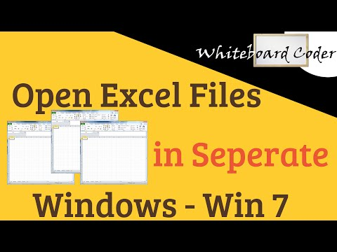 Open Excel Files in Seperate Windows - Win 7
