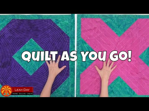 How to Quilt As You Go SUPER SIZED Quilt Blocks! QAYG Tutorial