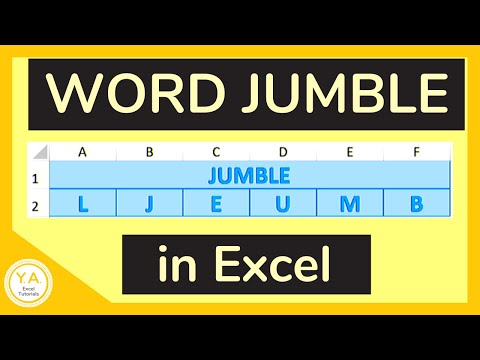 How to Create a Word Jumble in Excel / Make a Word Scramble in Excel - Tutorial