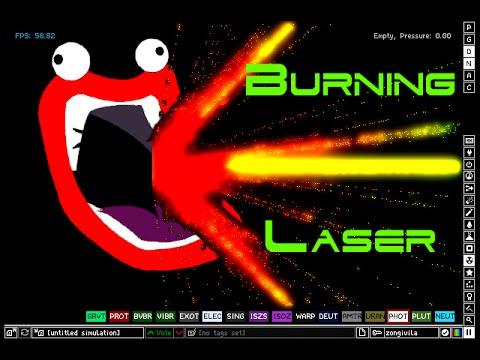 Powder Toy Burning Laser Tutorial with voice