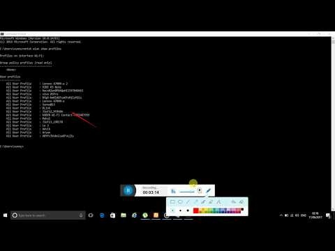 How to get/hack wifi password u¦using command prompt¦PC