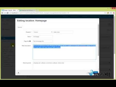 Change Homepage Title, Meta Description & Keywords on CS-Cart 4