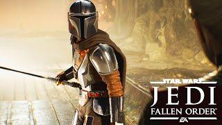 The Mandalorian Wields Darksaber Against Rogue Jedi (Star Wars: Jedi Fallen Order Modded Gameplay)