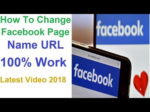 how to change facebook page name url 2018 facebook business page