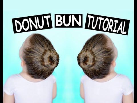 Donut bun hair tutorial - how to make a perfect ballet bun