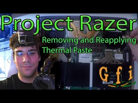 Project Razer (a.k.a. Project Blade): Removing and Reapplying Thermal Paste